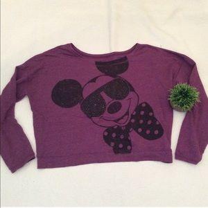 Disney Mickey Mouse crop sweatshirt